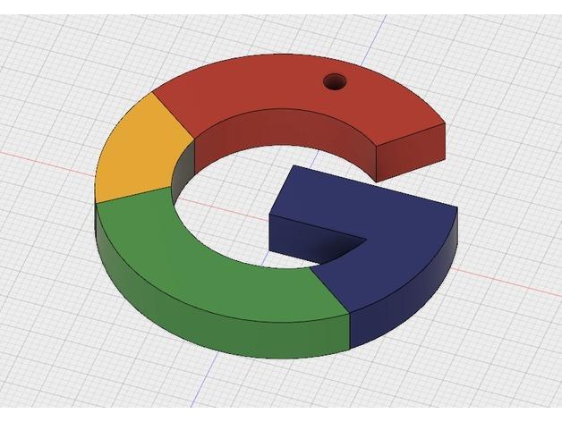 google logo keychain by matigramirez thingiverse