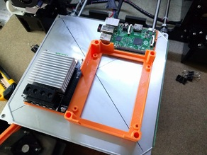 Anet A8 Caja para placa+mosfet+raspberry y tapa con ventilador