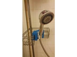 Shower mount for shower pole, caddies and shelves