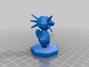 Repaired Pokemon Chess Pieces