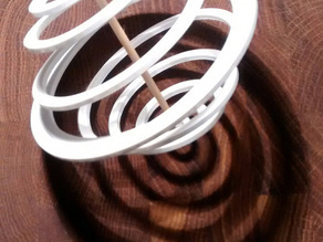 Spiraform: Contra spiralled tension structure. Add toothpick.