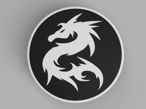 hood / trunk logo Bicolor Dragon01 82mm / 74mm for BMW vehicles