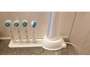Oral-B toothbrush head stand holder + brAun toothbrush charger holder