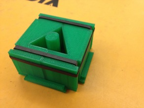 Triangular Pencil Grip: Mold for Silicone Casting