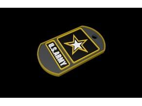 US Army DogTag - Keychain