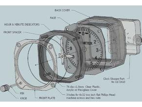 WWII Style Altimeter Desk Clock