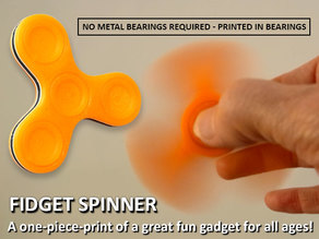 Fidget Spinner - One-Piece-Print / No Bearings Required!