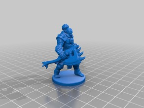 Orc Barbarian Miniature