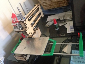 182mm  X axis full print bed upgrade Printrbot simple 1405 makers edition 2015