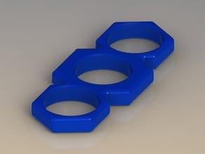 EDC Fidget Spinner -- Mini Ninja Bar Spinner -- Bluegrass.3D