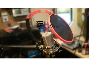 Pop filter / Wind break mic clamp. Gopro mounts