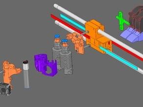 3D Printer Minimal X Carriage [#SCOUTcorexy design]