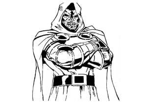 Dr Doom stencil