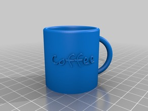 Parametric Mug with label - changable fonts