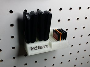 Pegboard Mounted SD / USB Stick Holder
