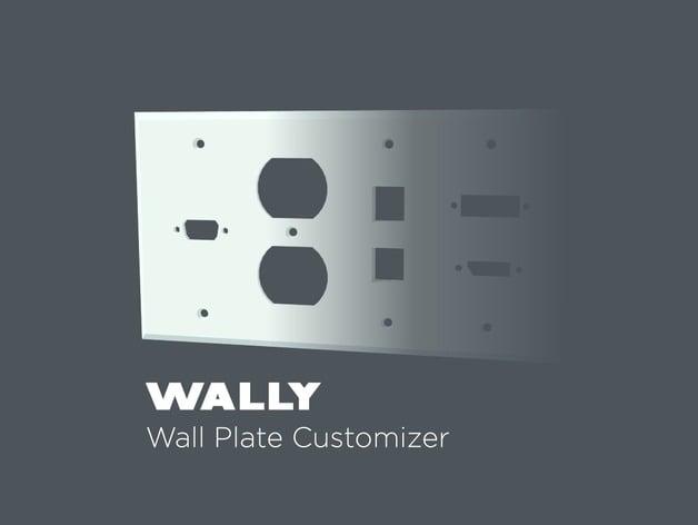 WALLY - Wall Plate Customizer by TheNewHobbyist - Thingiverse