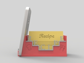 Recipe Cards & Mobile Holder for Kitchen