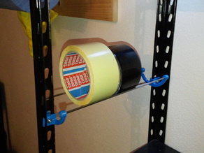 Tape roll holder - for shelf & wall