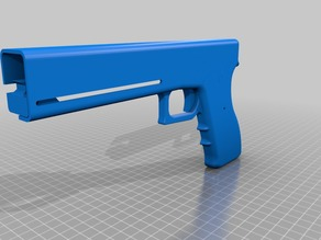 Elastic Band Gun (Based on Glock 19)