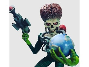 Mars Attacks Bust