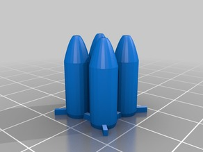 Airsoft realistic spiky hunting bullets V7 (4 pack)