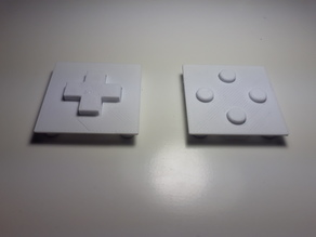 D-pad and buttons for DS rubber pads