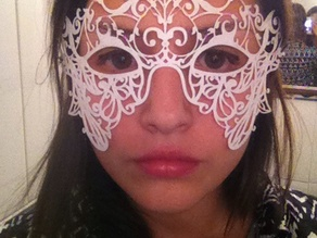 Lace pattern Mask