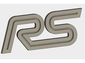 Ford Focus RS Logo and Keyring 2017