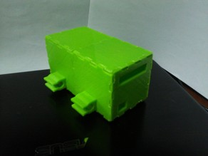 Modular RepRap RAMPS Electronics Case with clips and back wall