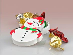 Christmas Snowman Tin (Single extruder multi-colour)