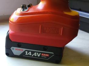 Black And Decker 12V A12E to Bosch 14,4V battery converter
