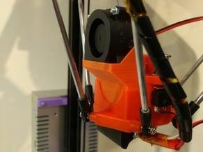 FLSun delta part cooling adapter for centrifugal fan