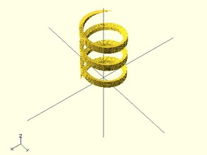 openscad screw threads with linear_extrude