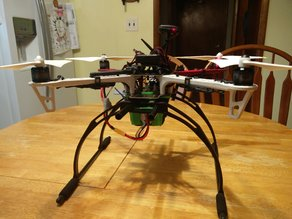 DJI F450 YKV Landing Skid Adapter and Battery Cage