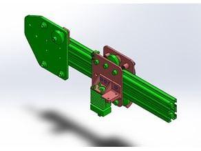 Tevo Tarantula simple modular X carriage with layer fan