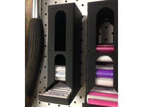 Modular Battery dispenser for pegboards (to suit AAA batteries)