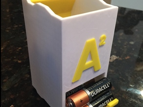 Stackable Battery Holder Remix (Double A)