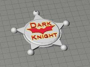 Dark Knight Sheriff's Badge