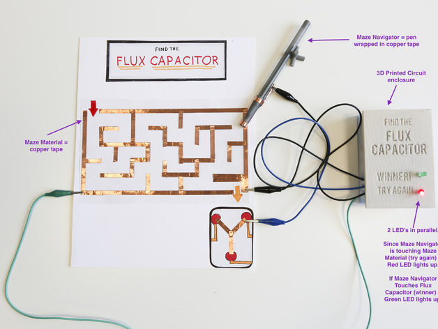 circuit maze project by makerbotlearning thingiverse rh thingiverse com Electrical Schematics For Dummies Simple Electrical Schematic