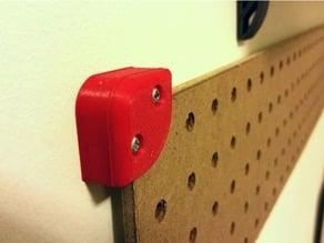 Peg Board Corner Brackets