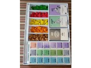 Food Chain Magnate Organizer (BGG Dry Erase Milestone Boards & Card Accordion).