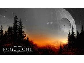 Rogue One Death Star Lithophane