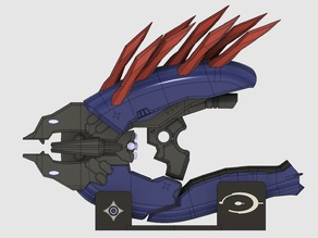 Halo 4 Needler Prop Weapon With Electronics Cutouts For Small Build Platforms