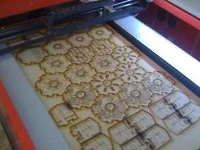 Lasercut tiles for Settlers of Catan