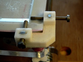 Glass bed XY corner clamp variation