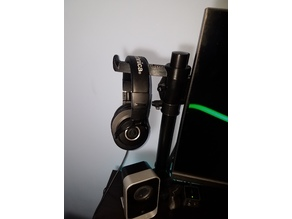 Headphone Holder on Generic Monitor Mount