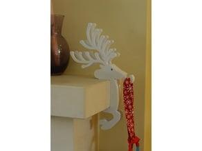 Christmas Reindeer Stocking Holder