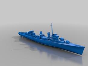 Warship - DD-445 Fletcher (1/10)