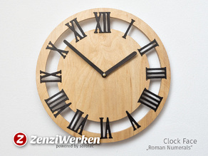 "Clock Face ""Roman Numerals"" cnc/laser"