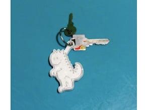 Marko the dinosaur Keychain